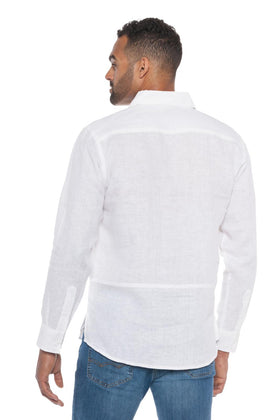 Tropic Breeze | Men's Long Sleeve Linen Shirt