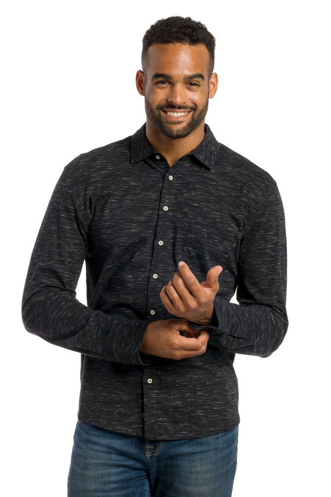 Shay | Men's Injected Slub Button Up Long Sleeve Shirt