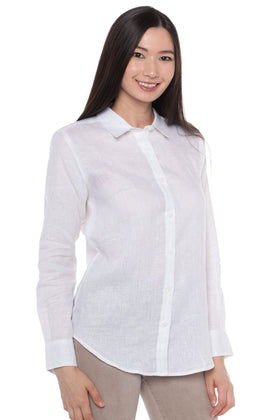 Aloe | Long Sleeve Linen Shirt