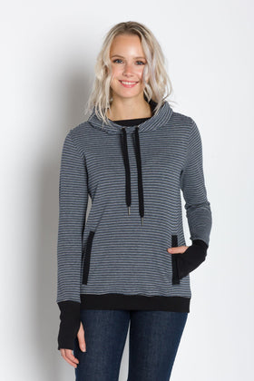 Luna A | Plated Knit Cowl Neck Pullover