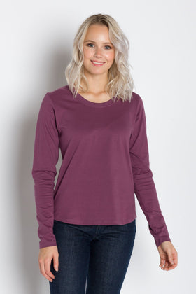 Pamela Heavy Tee | Women's Long Sleeve Crew Neck