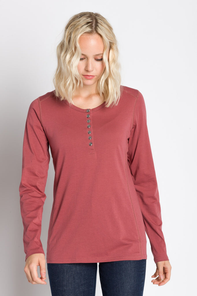Virginia | Women's Crew Neck Henley