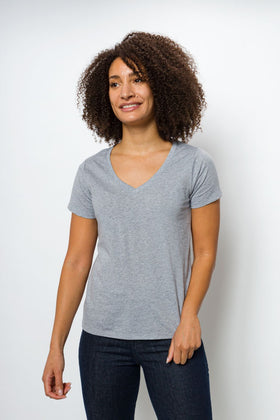 Vanessa Unbranded | Women's Logo-less Deep V-neck T-Shirt
