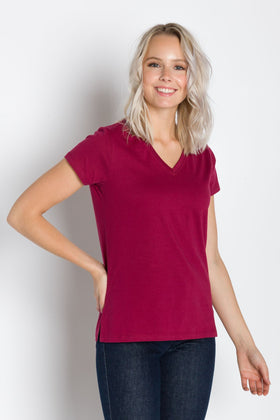 Vanessa 180 | Deep V-Neck T-Shirt