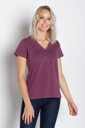 Vanessa Heavy Tee | Women's Deep V-Neck T-Shirt