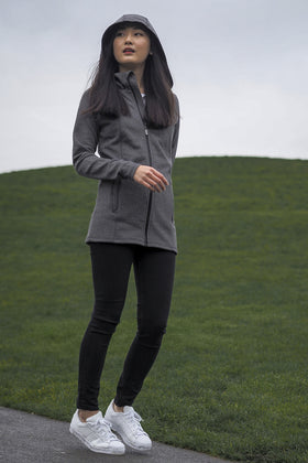 Alice | Full Zip Hooded Long Coat