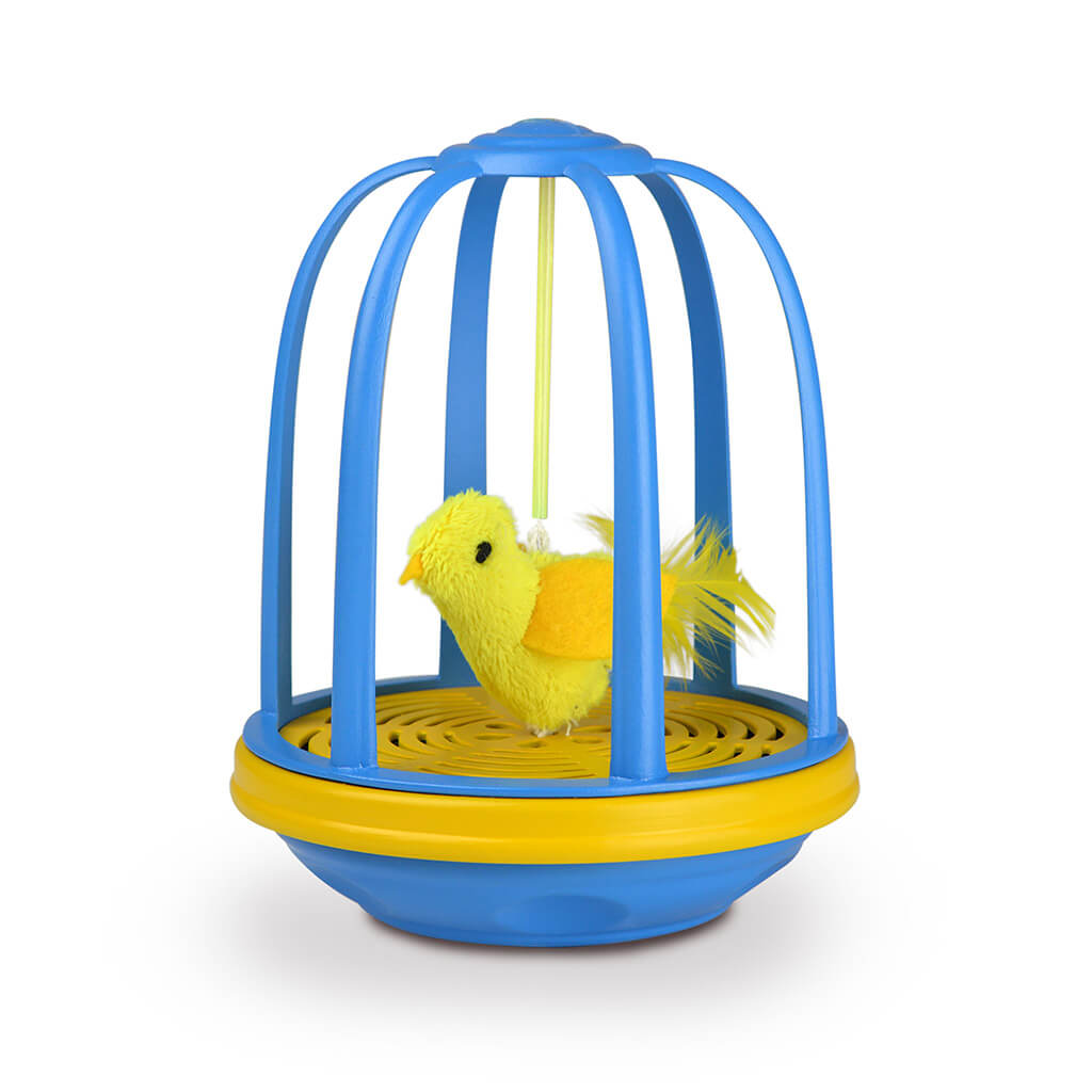 OurPets Bird in a Cage Electronic Cat Toy