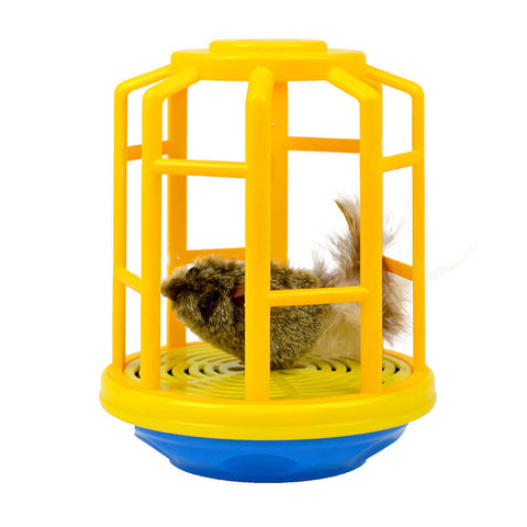 OurPets Mouse in a Cage Electronic Cat Toy