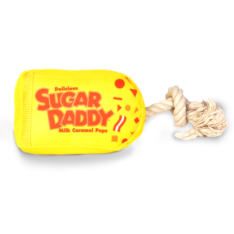 Sugar Daddy Candy Shaped Plush Tug & Toss Dog Toys!