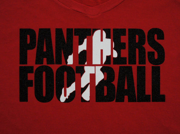 Football Shirt - Panthers Football Shown.  Customize for your team name, colors.  Football tank, football sweatshirt, football hoodie, football long sleeves