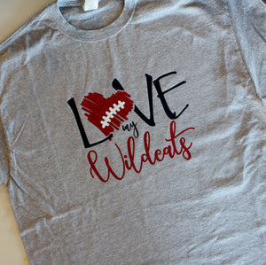 Wildcat Football Shirt.  Customize for your team name, colors.