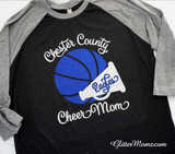 Basketball Cheer Mom Shirt Sweatshirt or Hoodie