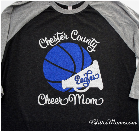 Basketball Cheer Mom Shirt