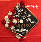 God is Within Her Masters Graduation Cap Topper