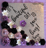 Beautiful Day to Save Lives Graduation Cap Topper Decoration with glitter and flowers