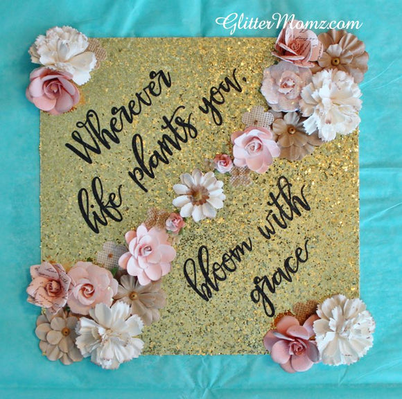 Graduation Topper Decoration Bloom With Grace