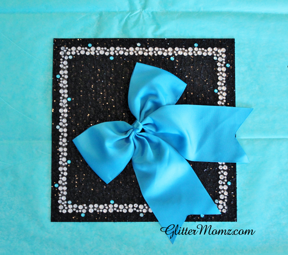 Graduation Cap Topper with Rhinestone and Bow
