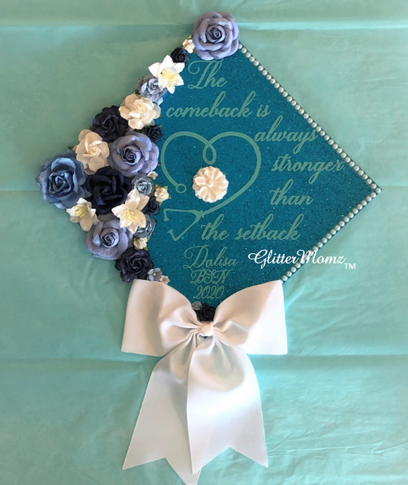 Comeback Stronger Than Setback Graduation Cap Topper
