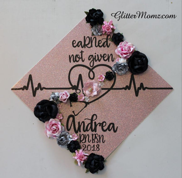 Nurse Graduation Topper Decoration eaRNed not given