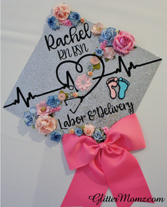 Nurse graduation with bow