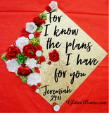 Graduation Cap Topper and Flower Crown The Plans I Have for You Jeremiah