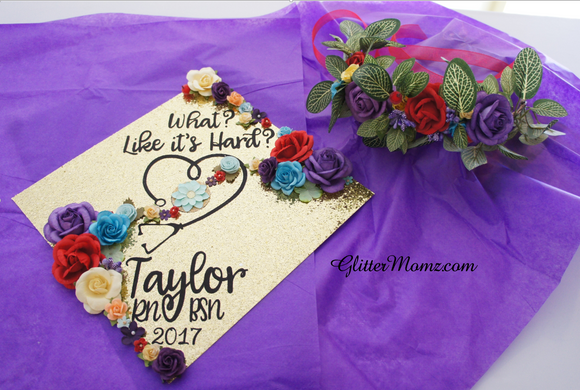 graduation flower crown