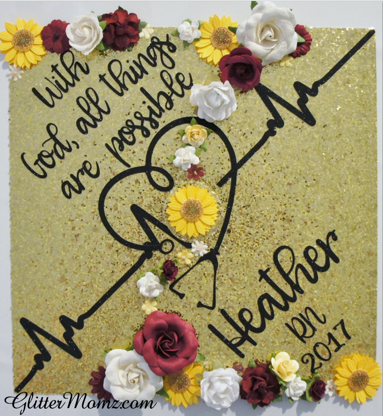 Nurse Graduation Cap Decoration With God All Things Are Possible