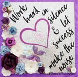 Graduation Cap Decoration Work Hard in Silence Graduation Topper with glitter and flowers
