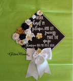 Work Hard in Silence Graduation Cap Topper
