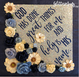 God Has Done Great Things Graduation Cap Topper Decoration