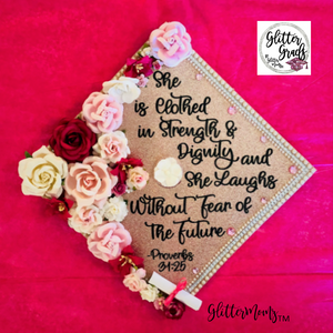 Clothed in Strength and Dignity Graduation Cap Topper
