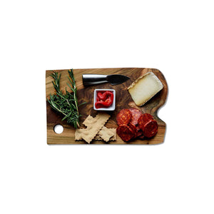 "Load image into Gallery viewer, 12"" Sustainable Teak Wood Serving Board"