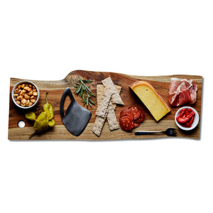 "24"" Sustainable Teak Wood Serving Board"
