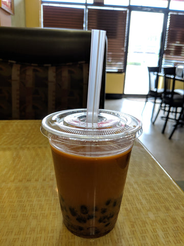 Thai Tea with Black Sugar Crystal Boba - pho92ga