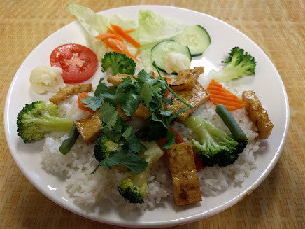 C6. Com Chay (Tofu and Vegetables) - pho92ga