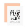 Fur Real New Pet Greeting Card