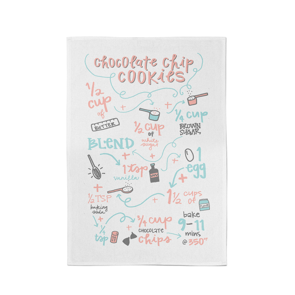 Chocolate Chip Cookies Recipe Tea Towel