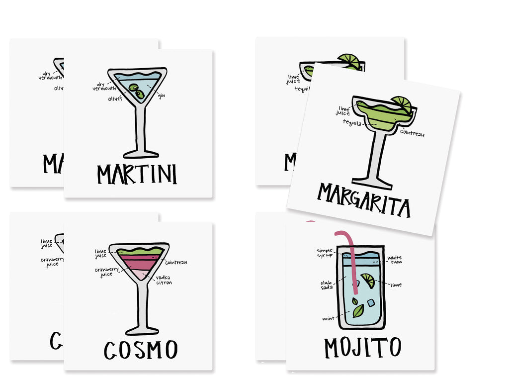 Cocktail Paper Coaster Set