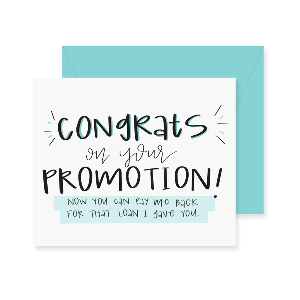 promotion loan greeting card fresh out of ink