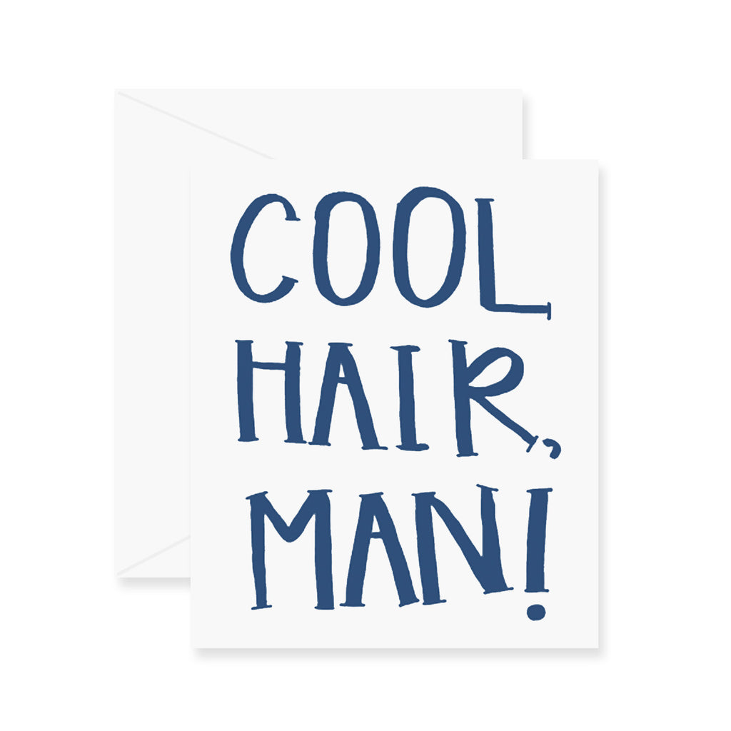 Cool Hair Man Greeting Card