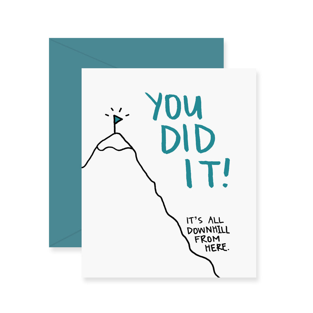 Downhill Graduation Greeting Card