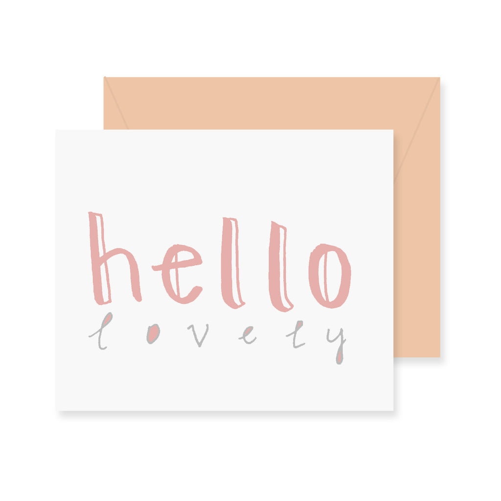 Hello Lovely Greeting Card