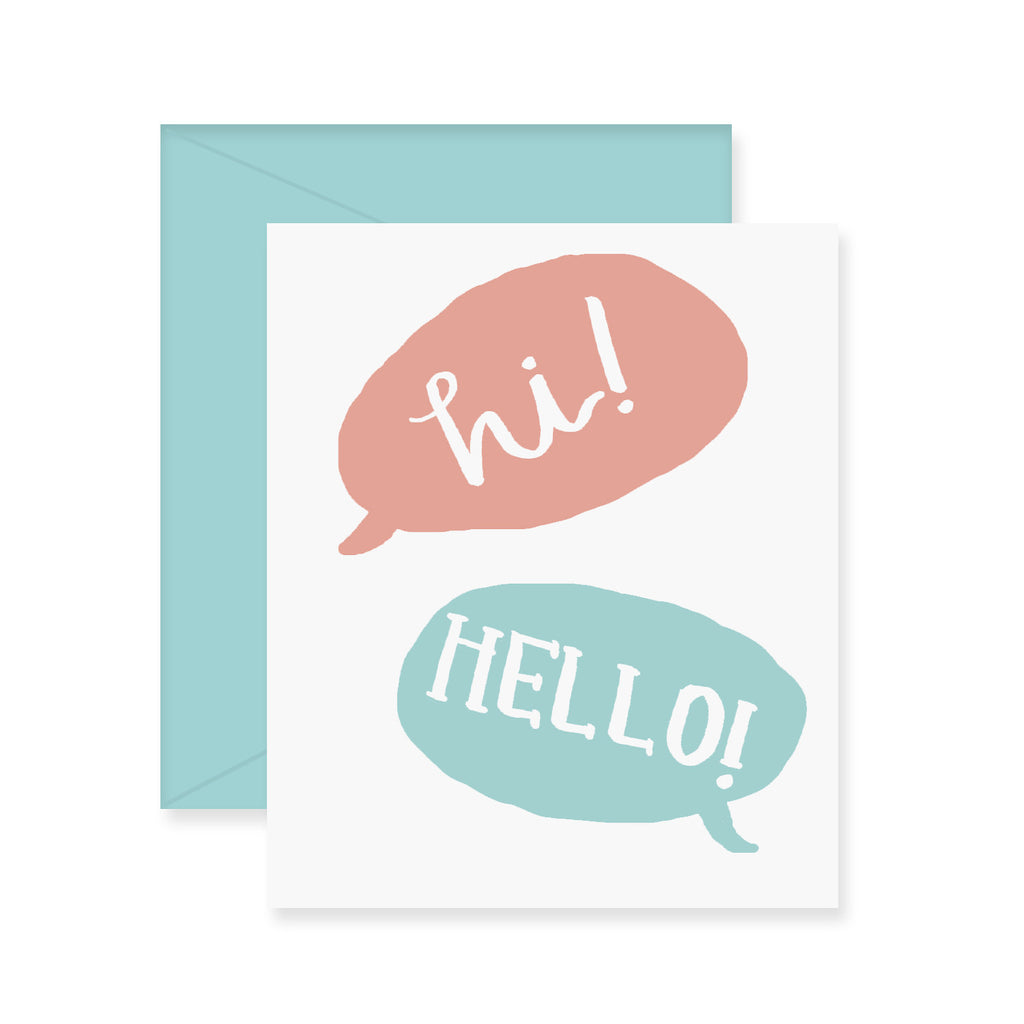 Hi Hello Greeting Card