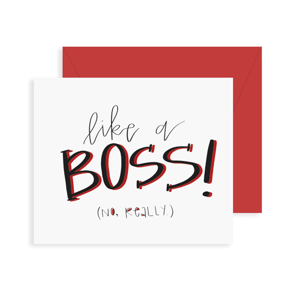 Like a boss greeting card fresh out of ink like a boss greeting card m4hsunfo