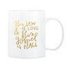 Love & Peace Gold Foil Coffee Mug
