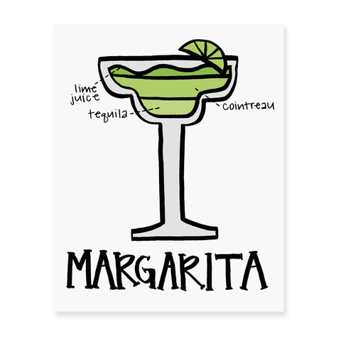 Mojito Diagram Art Print