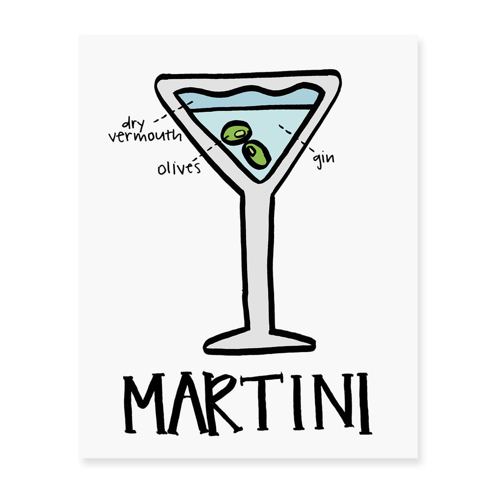 Martini Diagram Art Print