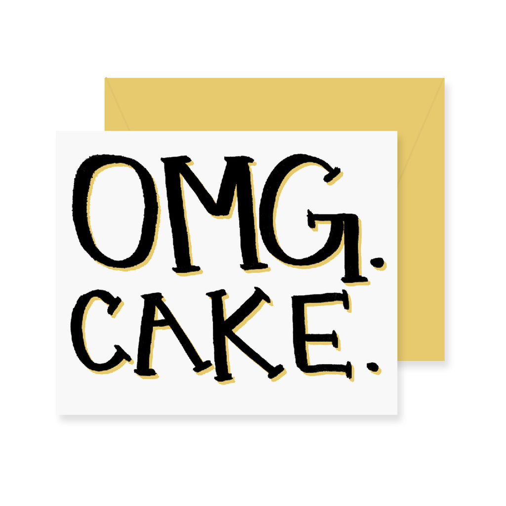 OMG CAKE Birthday Greeting Card