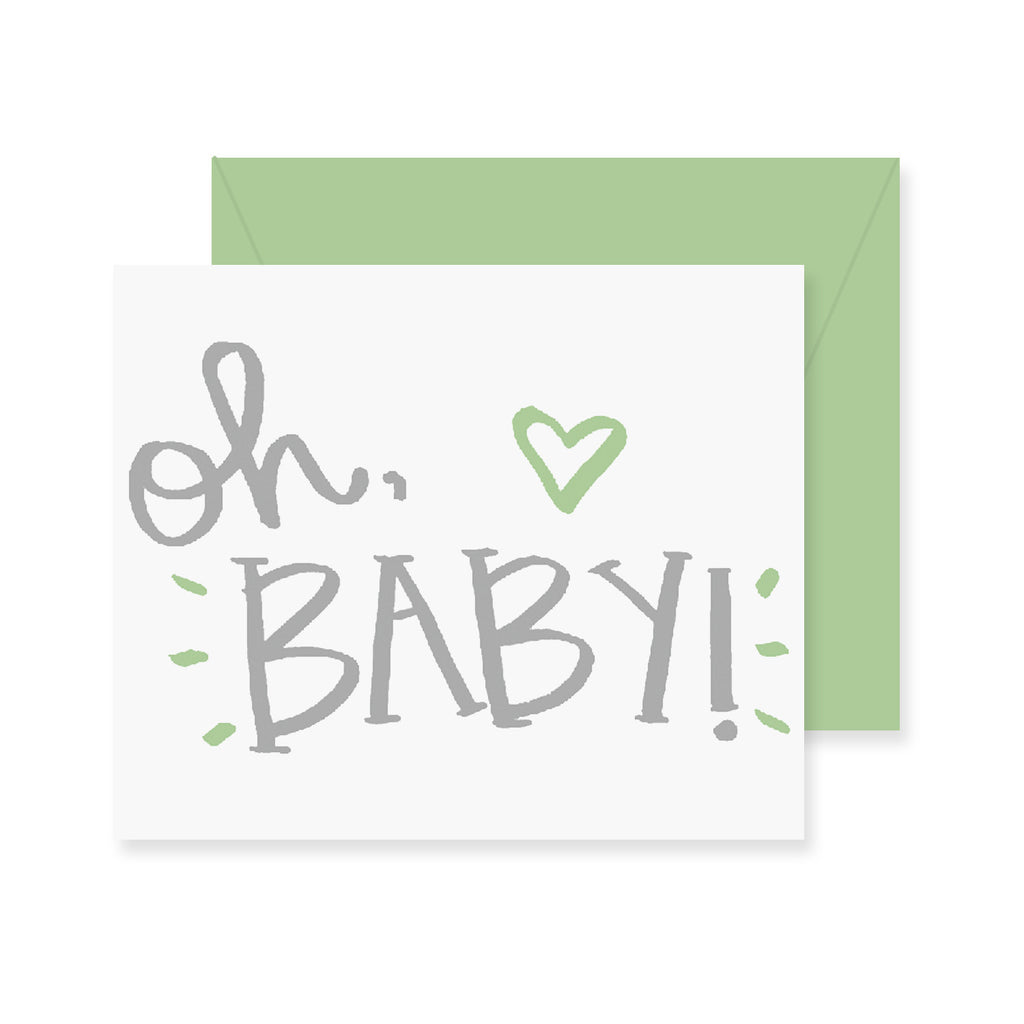 Oh Baby Greeting Card Fresh Out Of Ink