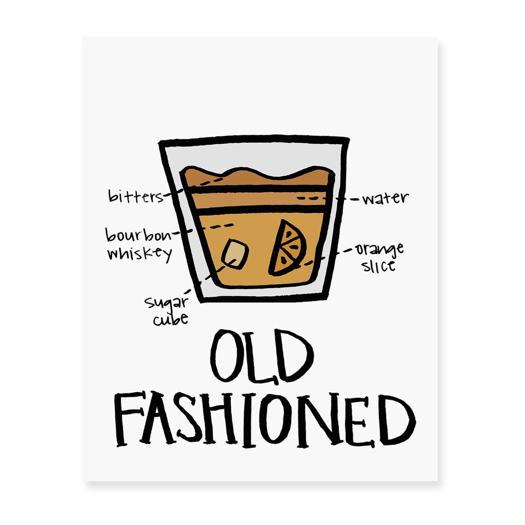 Old Fashioned Diagram Art Print